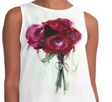 Rose Red Center Blooms Contrast Tank