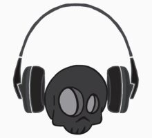 Cute Skull and Headphones One Piece - Long Sleeve