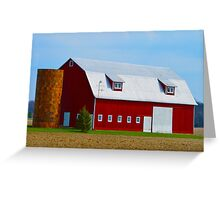 Red Barn Golden Silo Greeting Card