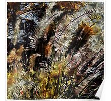 Pampas Grass Abstract Poster