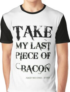 Bacon Typography Graphic T-Shirt