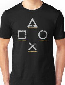 PlayStation Button Icons Uncharted Style Unisex T-Shirt