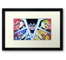 Voltron Characters Framed Print