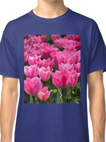 No Spanking The Monkey©WEAR Pink Tulips  Classic T-Shirt