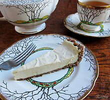 Lemon Vanilla Bean Mousse Tart by Kathy Reid