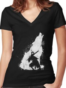 Abyss Warrior Women's Fitted V-Neck T-Shirt