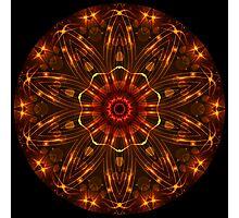 Golden Brown Kaleidoscope Photographic Print
