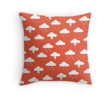 Precipitation Red Throw Pillow