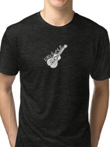 Ukulele Text And Image Tri-blend T-Shirt