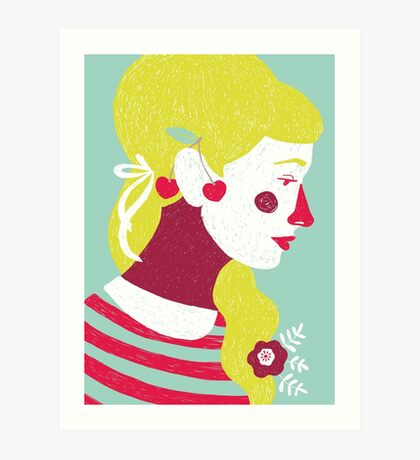 cherries on your ears Art Print