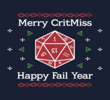Merry CritMiss and Happy Fail Year Kids Tee