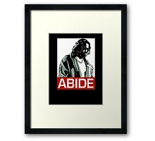 Jeff Lebowski (the dude) abides - the big lebowski Framed Print