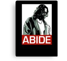 Jeff Lebowski (the dude) abides - the big lebowski Canvas Print