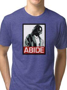 Jeff Lebowski (the dude) abides - the big lebowski Tri-blend T-Shirt