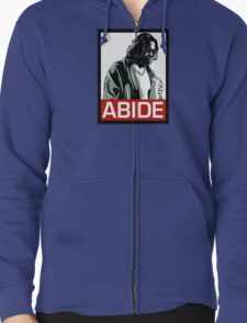 Jeff Lebowski (the dude) abides - the big lebowski Zipped Hoodie