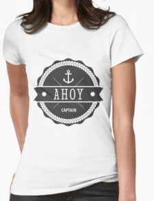 AHOY CAPTAIN Womens Fitted T-Shirt