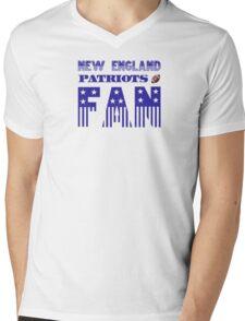 NEW ENGLAND PATRIOTS FAN Mens V-Neck T-Shirt