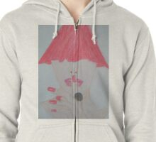 Red Is Eye-catching Zipped Hoodie