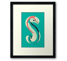 S for Seahorse Framed Print
