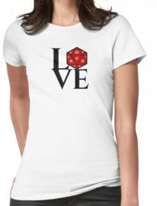 D20 - LOVE Womens Fitted T-Shirt