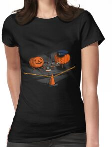 Crime Scene halloween Womens Fitted T-Shirt