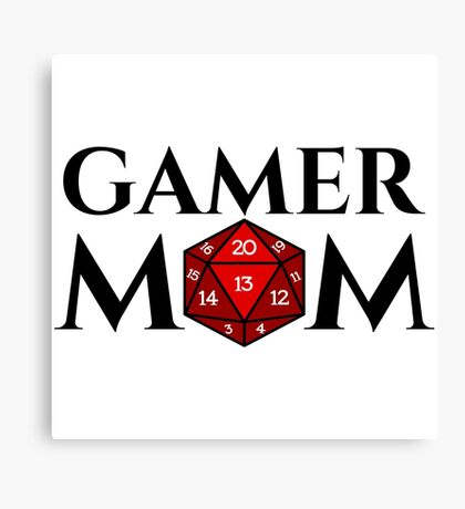 D20 - Gamer Mom Canvas Print
