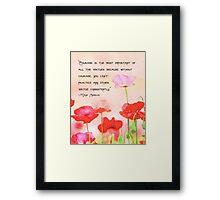 Courage Is:  Poppy Watercolor Illustration Framed Print