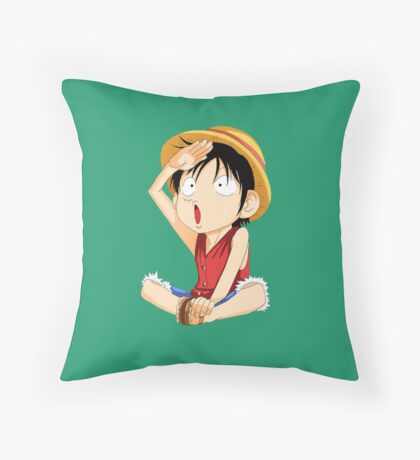 luffy one piece Throw Pillow