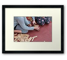 wooden toys for children Framed Print