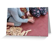 wooden toys for children Greeting Card