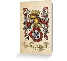 Arms of King of Portugal - Livro do Armeiro-Mor Greeting Card