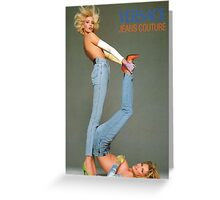 Retro Versace Jeans Poster Greeting Card