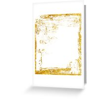 Gold delicate grunge Greeting Card