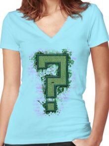 Riddler's Questionable Maze Women's Fitted V-Neck T-Shirt