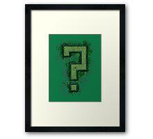 Riddler's Questionable Maze Framed Print