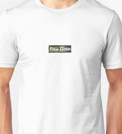 Fixie Goon Box Logo - Tiger Camo Unisex T-Shirt