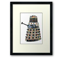 Hippie Hippy Love and Peace Dalek Framed Print