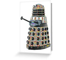 Hippie Hippy Love and Peace Dalek Greeting Card