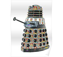 Hippie Hippy Love and Peace Dalek Poster