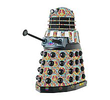 Hippie Hippy Love and Peace Dalek Photographic Print