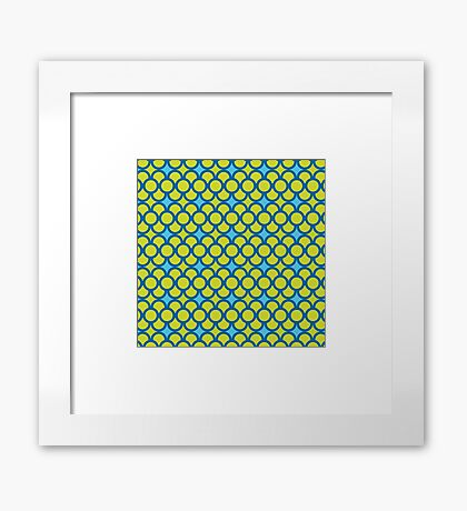 Blue Green Scales Framed Print