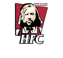 The hound fried chicken (HFC) - Kentucky parody.  Photographic Print