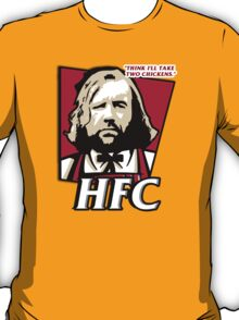The hound fried chicken (HFC) - Kentucky parody.  T-Shirt