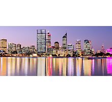 Perth skyline at dusk Photographic Print