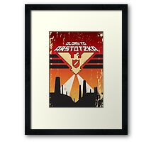 """Papers, Please - Propaganda, Poster """"Glory"""" Framed Print"""