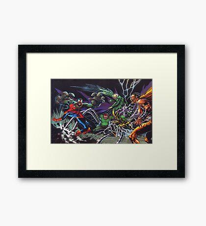 Spider-Man Vs. The Sinister 6  Framed Print