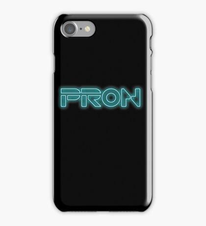 PRON. (Tron parody) iPhone Case/Skin