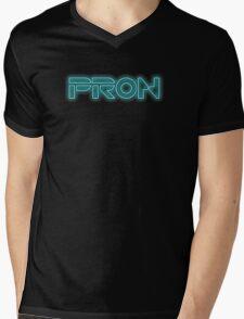 PRON. (Tron parody) Mens V-Neck T-Shirt