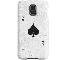 Vintage Look Ace of Spades Playing Card Graphic Samsung Galaxy Case/Skin