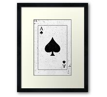 Vintage Look Ace of Spades Playing Card Graphic Framed Print